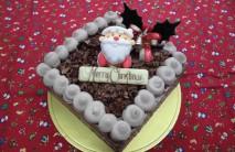 チョコ生クリスマスケーキ